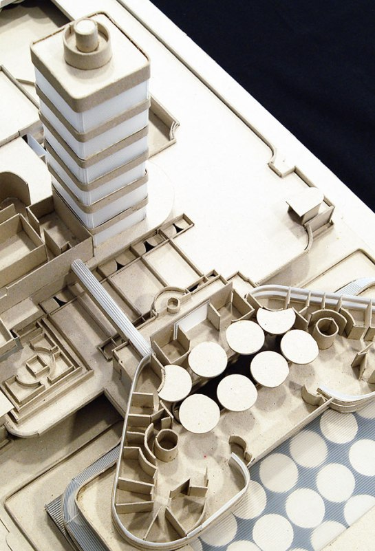 Maqueta del edificio Johnson Wax. Frank Lloyd Wright, Racine, 1936-39.
